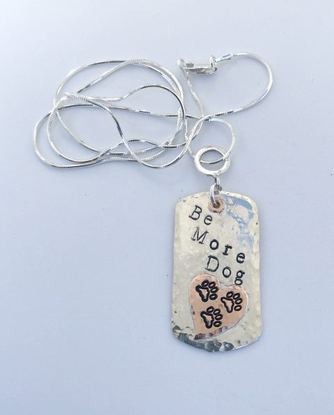 Be More Dog Tag Necklace