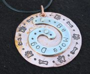 Be More Dog Spiral Charm