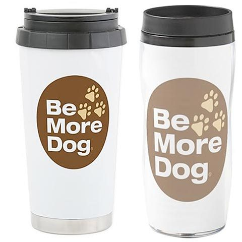 Be More Dog Badge Mugs