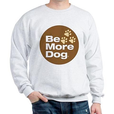 Be More Dog Badge Sweatshirt