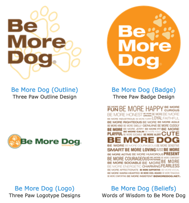 be more dog stickers