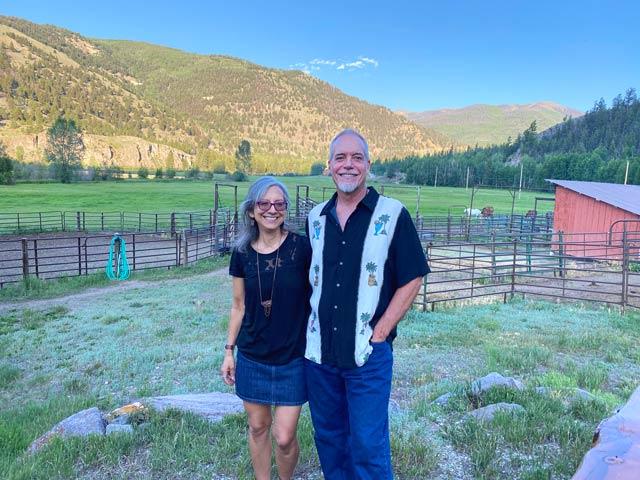 Jim and Rene at Vickers Ranch
